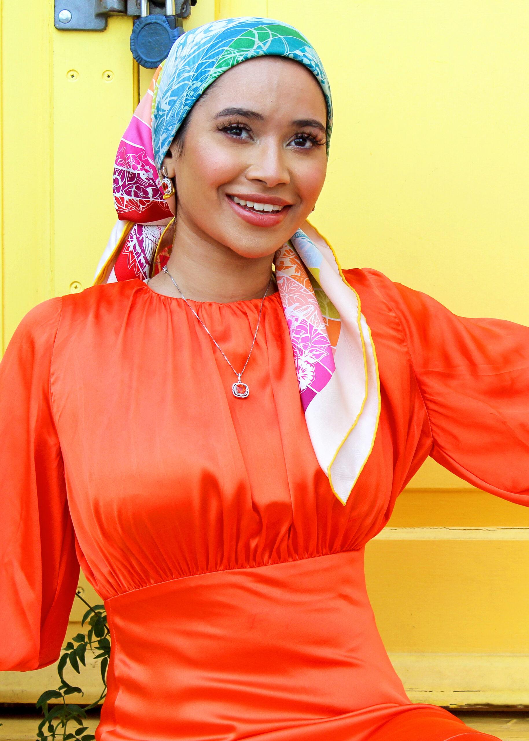 amina orange dress